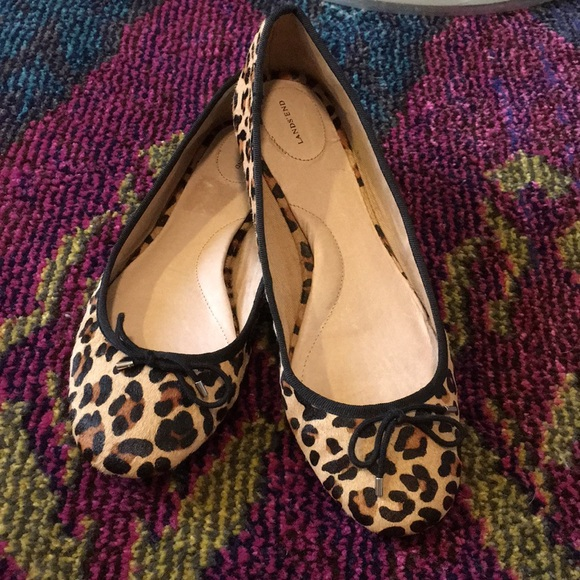 1ddd32e7a848 Lands' End Shoes | New Pony Hair Leopard Flats | Poshmark